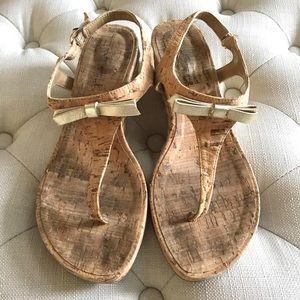 Vaneli Kiliana Cork Wedge Sandal